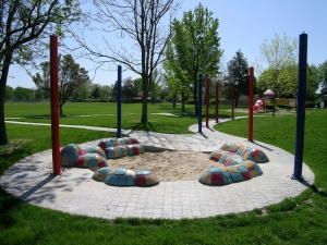 Cassia Park Reading Circle 2005 16 x 16 x 3 feet Ceramic and Concrete Cassia Park, Boise, ID Collection of: City of Boise
