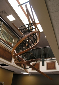 Bridge 2006 15 x 10 x 5 feet Mahogany, Maple, Steel, Bronze, and Brass Group One building lobby, Eagle, ID